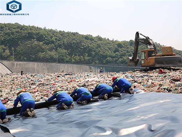 垃圾填埋厂铺设施工