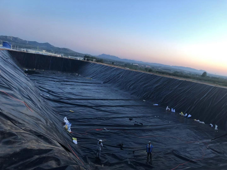 沼气池防渗膜应用于潍坊畜牧业工程