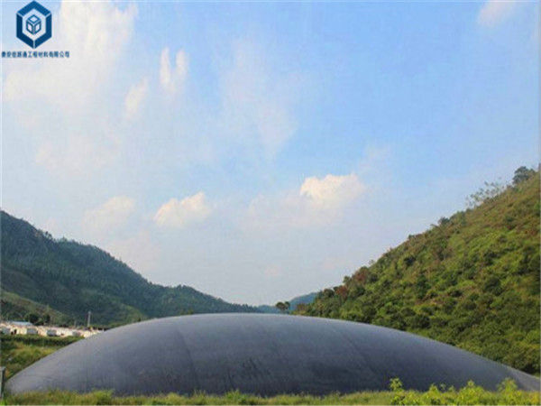 沼气池防渗膜应用于安徽淮南沼气池建造工程