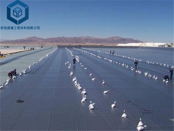 贮灰场防渗膜应用于陕西电厂建设工程