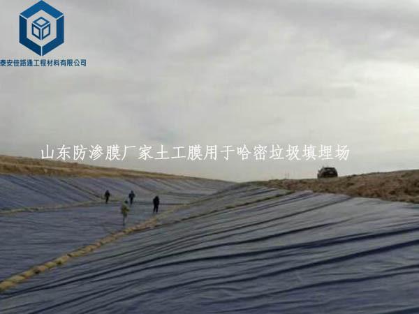 山东防渗膜厂家yabo亚博体育官网用于哈密垃圾填埋场